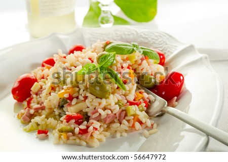 rice salad with tomatoes