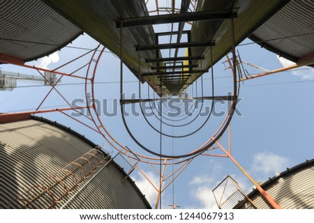 Rice silo of an industry at Rio Grande on Brazil Foto stock ©