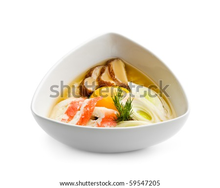 Rice Soup with Crab Meat and Egg Yolk