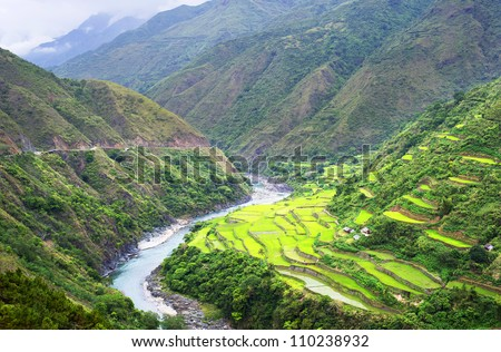Rice terrace in Cordillera mountains, Luzon, Philippines