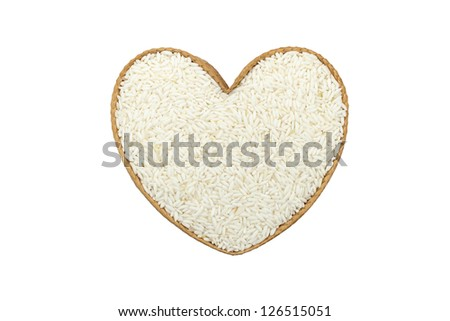 rice with heart shape