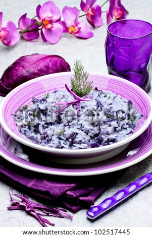 rice with red cabbage - italian recipe