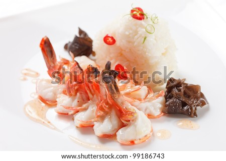 rice with shrimps - Japanese dish