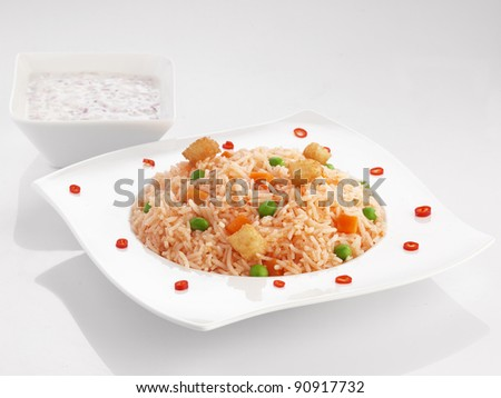 rice with tomato sauce texture