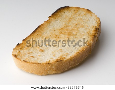 rich crunchy toasted on white background
