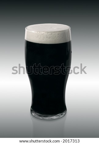 Rich Dark Pint of Stout Beer