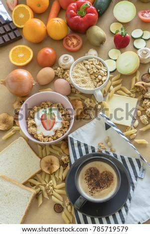Rich nutritious breakfast #785719579