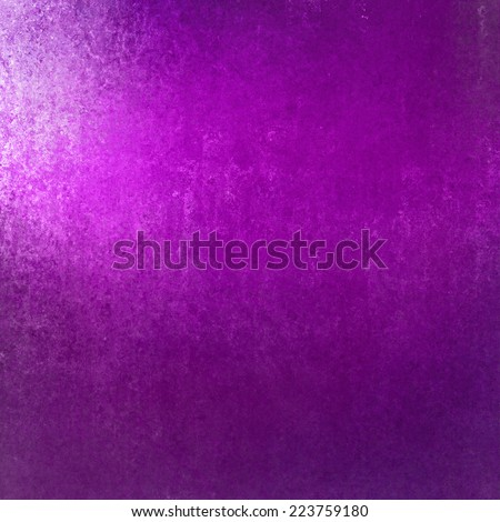 rich purple background with grunge texture border, light bright corner spotlight or sunshine pattern on wall. vintage shadow black frame design, old distressed shabby background layout