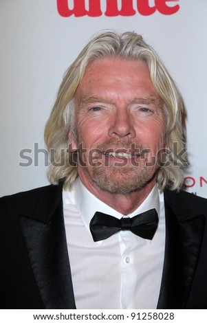 Richard Branson at the 5th Annual Rock The Kasbah Fundraising Gala, Boulevard 3, Hollywood, CA 11-16-11