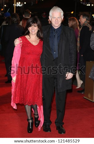Richard Curtis and wife Emma Freud arriving for the premiere of 'Les Miserables' at Leicester Square, London. 05/12/2012 Picture by: Alexandra Glen