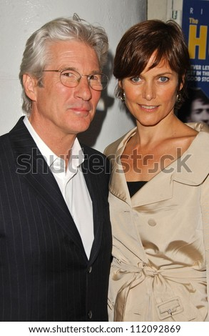 "Richard Gere and Carey Lowell at the Los Angeles Screening of ""The Hoax"". Mann Festival, Westwood, CA. 03-18-07"