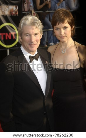 RICHARD GERE & CAREY LOWELL at the 9th Annual SCREEN ACTORS GUILD AWARDS in Los Angeles. March 9, 2003  Paul Smith / Featureflash
