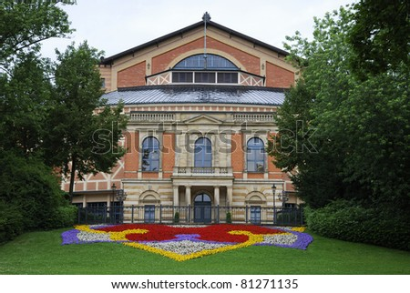 Richard Wagner Opera house in Bayreuth (Germany)