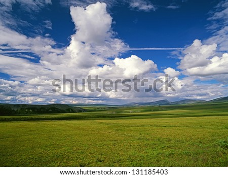 Richardson Mountains - meadows and mountains in the Canada North, NWT
