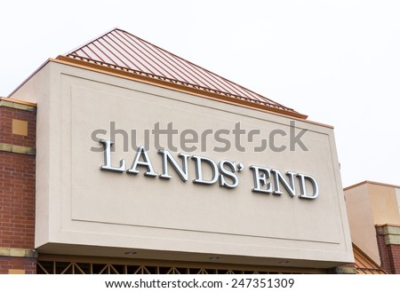 RICHFIELD, MN/USA - JANUARY 17, 2015: Land's End retail store exterior. Lands' End is an American clothing retailer that specializes in casual clothing, luggage, and home furnishings. #247351309