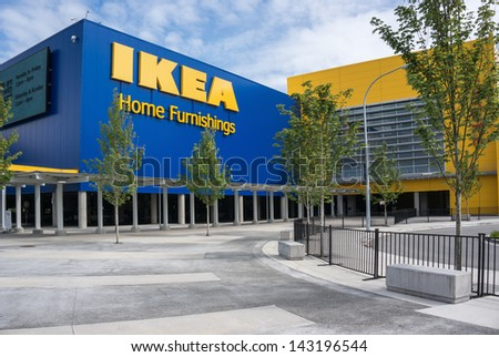 Richmond Bc Canada May 30 2013 Ikea Richmond Store On May 30 2013 Founded In Sweden In
