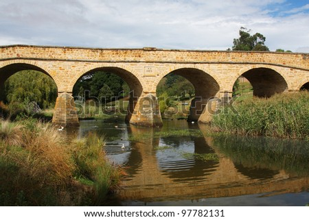 Richmond Bridge in Tasmania, Australia