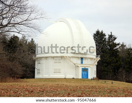 RICHMOND HILL - FEBRUARY 5: The David Dunlap Observatory on February 5, 2011 in Richmond Hill, Ontario. The DDO  is a large astronomical observatory site once owned by the University of Toronto.