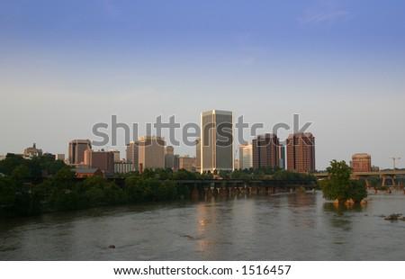 Richmond Virginia Skyline James River view