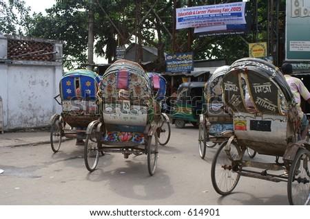 Rickshaws in Bangladeshi capital of Dhaka