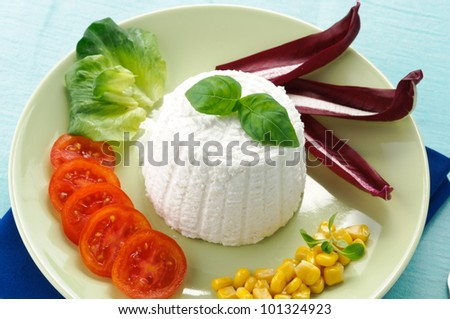 Ricotta with vegetables