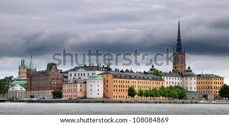 "Riddarholmen (""The Knights' Islet"") panorama, Stockholm, Sweden."