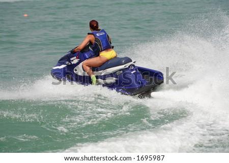 ride on a jet-ski