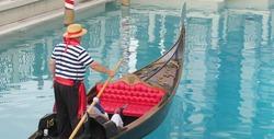 Ride on a venetian gondola in Las Vegas