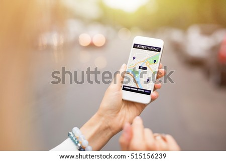 Shutterstock Ride sharing app on mobile phone