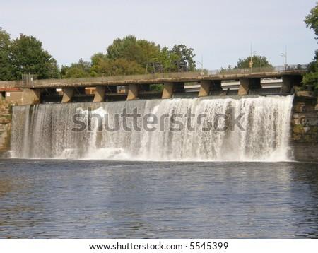 Rideau Falls in Ottawa, Canada - stock photo
