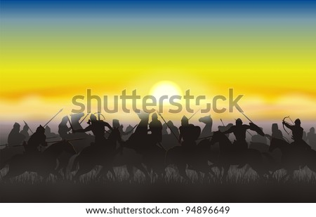 Riders went into battle against the rising sun