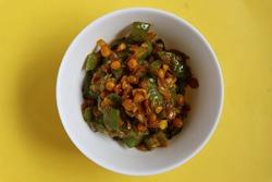 Ridge gourd dal curry, Maharashtrian style, Indian food