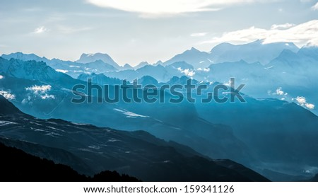 Ridges of the mountains