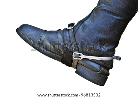 riding boot isolated