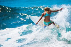 Riding the waves. Costa Rica, surf paradise