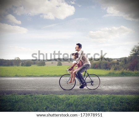 riding with dad