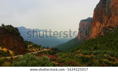 Rif Mountain located in Akchour close to Waterfalls in Chefchaouen Region, Morocco. Stockfoto ©