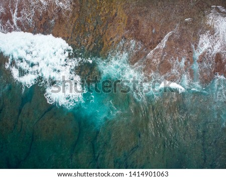 Riff in ocean. Mauritius Island in Indian Ocean. 2019 Stock foto ©