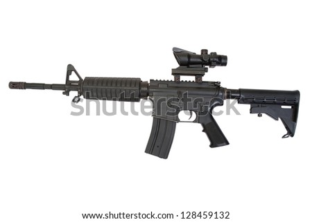 rifle isolated on a white background