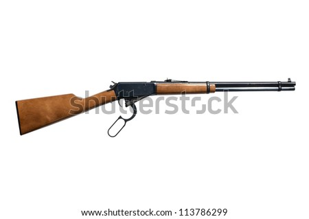 Rifle isolated on white background