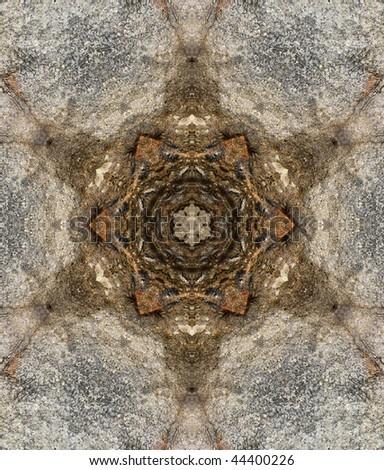Rifts in granite rocks texture
