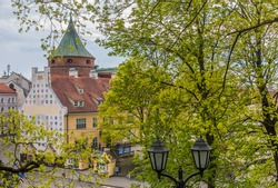 Riga bastion in springtime, Latvia