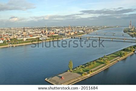 Riga from above (Riga, Latvia, Europe)