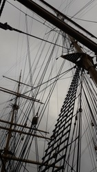 Rigging of a sailing vessel