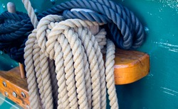 Rigging Ropes on USS Constitution