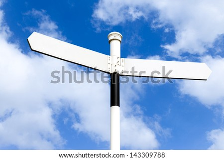 Right and wrong directional signpost