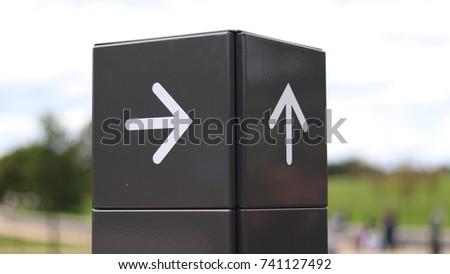 Right Arrow and Up Arrow #741127492