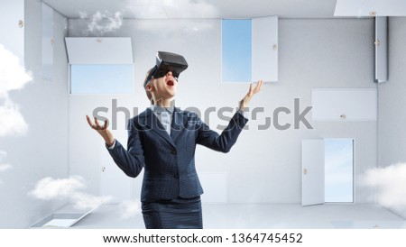 Right decision making and virtual reality. Mixed media #1364745452