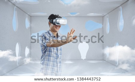Right decision making and virtual reality. Mixed media #1384443752