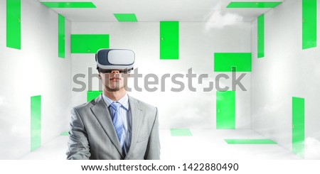 Right decision making and virtual reality. Mixed media #1422880490